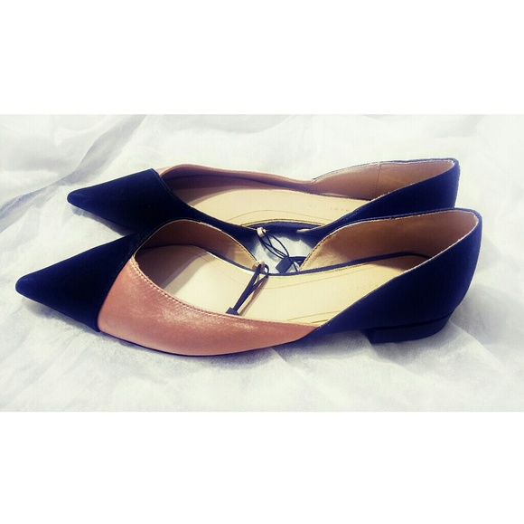 ebc1ddf40766 Zara Tri Color Ballet Flat Pointy Toe Shoes Size 8